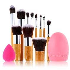 11pcs Professional Cosmetics Makeup Brushes Set Beauty Naked Eyebrow Blending Kabuki Foundation Brush Kit Pincel Maquiagem