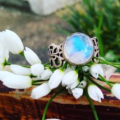 Gothic Wedding Rings, Gold Wedding Jewelry, Gold Jewelry, Jewellery, Rainbow Moonstone Ring, Garnet Necklace, Engraved Rings, Sterling Silver Rings, Gemstone Rings