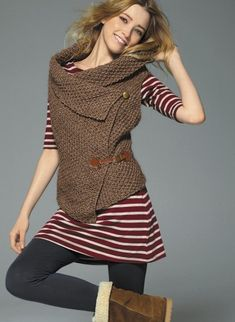 this one is knitted. i don't knit. but the style IS pretty cute.