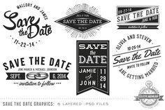 25 Creative and Unique Save the Date Ideas ~ Creative Market Blog
