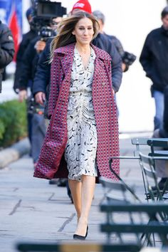 SARAH JESSICA PARKER on the Set of Divorce in New York 02/02/2016