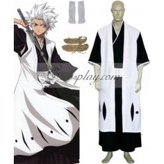 Bleach 10th Division Captain Hitsugaya Toushirou Cosplay Costume