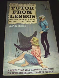 Tutor From Lesbos By A.P. Williams Beacon B731X 1964 Paperback PBO