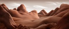 As an alternative to the kind of portraits with which we are perhaps more familiar—highlighting the face—photographer Carl Warner offers us Bodyscapes, a series of images comprised of landscapes made of limbs, flesh, and other obscured body parts, inspired in part by Antonioni's film Zabriskie Point. Our eyes never really settle, as the landscapes take us around the frame in an endless search for the familiar; for a finite place to stop. No such luck.