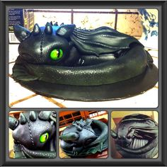 Toothless the Night Fury cake by Layde Cakes