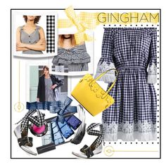 """""""Check Republic: Gingham Dress"""" by ladygroovenyc ❤ liked on Polyvore featuring Topshop, Chicwish, Luxury Rebel, Edge of Ember, New Directions, gingham, polyvoreeditorial, springdress and Spring2017"""