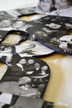 Photo collage letters - Spell out a loved ones name and decoupage pics on them as a great keepsake.