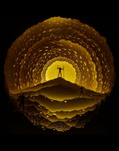 Wonderfully Illuminated Cut Paper Dioramas by Hari & Deepti - The Odyssey | Click for the full post!