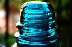 Blue Glass Insulator