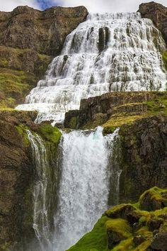 Dynjandi Falls In Iceland