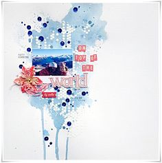 The blue watercolors are like water running down the mountain, love it! Skissedilla: Sketch # 221