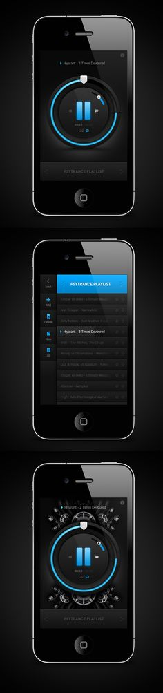 iPhone music player | Designer: Emile Rohlandt - www.behance.net/...