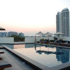 Rooftop swimming pool at the Navalai River Resort. www.navalai.com #Navalai #navalairiverresort #navalairesort #navalaihotel #aquatinirestaurant #accommodation #award #riversideresort #romantic #romantichotel #thailand #travel #honeymoon #Hotel #khaosanroad #luxuryhotel #Luxuryhotel #igthailand #instabangkok #instatravel #instagood #honeymoonhotel