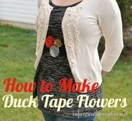Duck Tape Flower Instructions