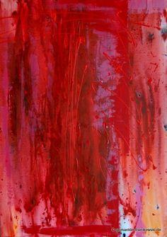 Acrylgemälde, Rot Abstrakt, 100x70cm.