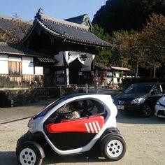 #明日香 #橘寺 #電気自動車 #レンタカー #Asuka #nara  橘寺の駐車場でまたアレに遭遇w by tokijiku3