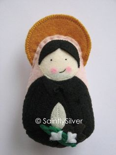 Saint Gemma Galgani Felt Saint Softie by SaintlySilver on Etsy, $18.00
