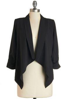 Marketing Maven Blazer in Black, @ModCloth
