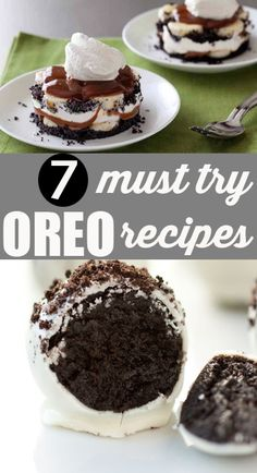 7 Uses for Oreos. Everyone will love these yummy treats and be left wanting… Mini Desserts, Just Desserts, Delicious Desserts, Yummy Food, Oreo Dessert, Yummy Treats, Sweet Treats, Cookie Recipes, Dessert Recipes