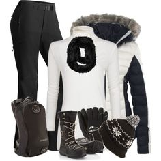 Ski Bunny by cnh92 on Polyvore featuring MANGO, Napapijri, SOREL, Osprey, claire's and KJUS
