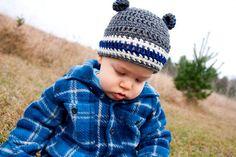 Boys Crochet Hat with Bear Ears by PortalElements, $20.00
