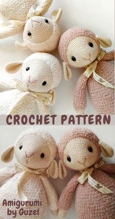 Crochet Sheep Free Pattern, Crochet Dolls Free Patterns, Crochet Flower Patterns, Crochet Doll Pattern, Easter Crochet, Crochet For Kids, Crochet Crafts, Crochet Projects, Knit Crochet