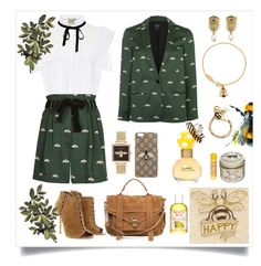 """""""Honey Bee"""" by thymetorelax on Polyvore featuring Sea, New York, Topshop, Michael Kors, Proenza Schouler, Olivia Burton, Gucci, Vivienne Westwood, Burt's Bees, Cartier and Marc Jacobs"""