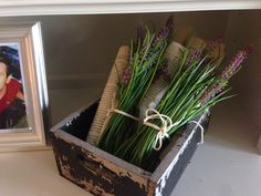 French, lavender, book pages.