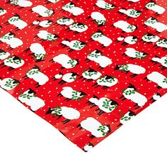 Caspari Festive Flock Continuous Gift Wrapping Paper Roll…