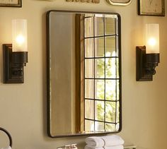 Powder room : if you want a med. cab. vs. a wall mirror : Vintage ...