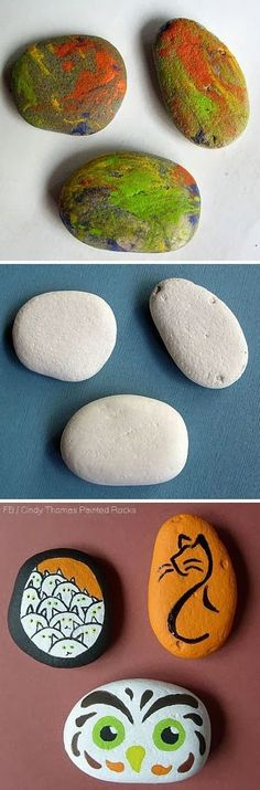 Painting Rock & Stone Animals, Nativity Sets & More: Do-Over Painted Rocks OR How To Re-Paint Rocks and Stones
