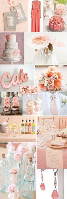 Soft and Romantic Melon - a springtime wedding inspiration board | by www.eyecandyeventdetails.blogspot.com