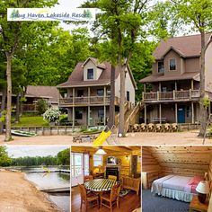Snug Haven Lakeside Resort has four lovely cottages located right at the edge of a private beach on Budd Lake. Enjoy comfortable accommodations and onsite rec rentals!   #itscabintime #travelmi #bookdirect #lakeresort
