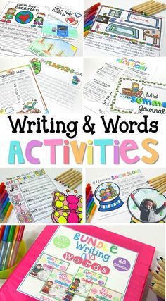 Writing and words activities has an entire year's worth of lessons for teachers on a variety of writing topics to keep your students busy throughout all the seasons! Includes vocabulary, printable graphic organizers, instructions, lesson suggestions, templates, and more! Great for word work, morning work, and whole group writing lessons. Your students will love these writing activities!