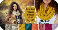 Cozy Knit Infinity Scarves $6.99 (Reg. $25) 9 Colors!