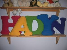 Daughters' names in crochet - CROCHET - crochet letters with link to letter pattern