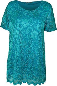 WearAll Plus Size Women's Lace Short Sleeve Top - Turquoise - US 10 (UK 14) WearAll http://www.amazon.com/dp/B00KZIS7M0/ref=cm_sw_r_pi_dp_bdVlvb08EPMCE