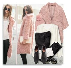"""""""Break out of that basic coat  and choose a pink one instead!"""" by breathing-style ❤ liked on Polyvore featuring WithChic, Mat, Gap, Calvin Klein, Vera Bradley and Bottega Veneta"""