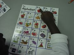 Easy games to play with alphabet chart.