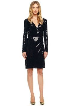Embrace Your Curves In These Figure-Enhancing Wrap Dresses #refinery29  http://www.refinery29.com/38992#slide-9  MICHAEL Michael Kors Sequined Wrap Dress, $160, available at Neiman Marcus.