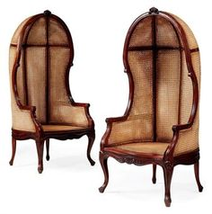 Sold in 2010 @ Christie's - A pair of carved mahogany and caned porter's chairs of Louis XV style, recent manufacture - Sale Information SALE 5990 — CHRISTIE'S INTERIORS 12 October 2010 London, South Kensington