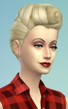 The Sims, Sims 4 Cas, Maxis, Sims 4 Decades Challenge, Sims 4 Controls, Sims 4 Studio, Sims 4 Characters, Sims 4 Mm Cc, Rockabilly Hair