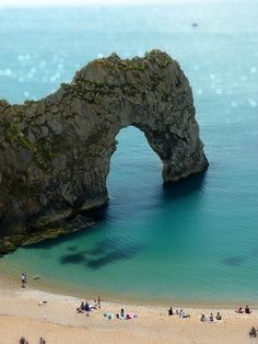 Durdle Door | Dorset, England - our water is NOT that clear