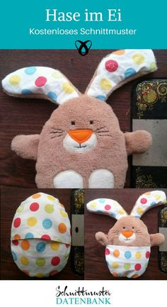 Osterhase im Ei Teddy Bear, Dinosaur Stuffed Animal, Website, Check, Toys, Sewing Projects For Beginners, Pillows, Bed Pillows, Beginner Sewing Projects