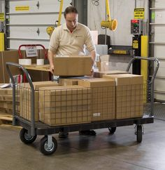 Akro-Mils has many styles of platform trucks to suit your needs. #organize #warehouse