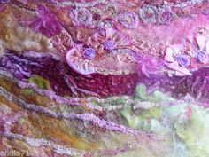 Surface Design Art Crazy Quilt Squares Fabric Roving Velvet and Silk Oh My   eBay