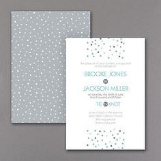 Pretty Dots Wedding Invitation 40% OFF  |  http://mediaplus.carlsoncraft.com/Wedding/Wedding-Invitations/3254-TWS26921-Pretty-Dots--Invitation.pro