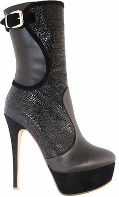 High & Heel: Ankleboots Fersengold