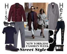 """""""nyfw his & hers street style inspired"""" by j-n-a ❤ liked on Polyvore featuring MANGO, A.P.C., Gerald & Stewart by Fidelity, Cole Haan, NYX, LIU•JO, women's clothing, women, female and woman"""