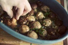 {Recipe: Garlic Butter Roasted Mushrooms}
